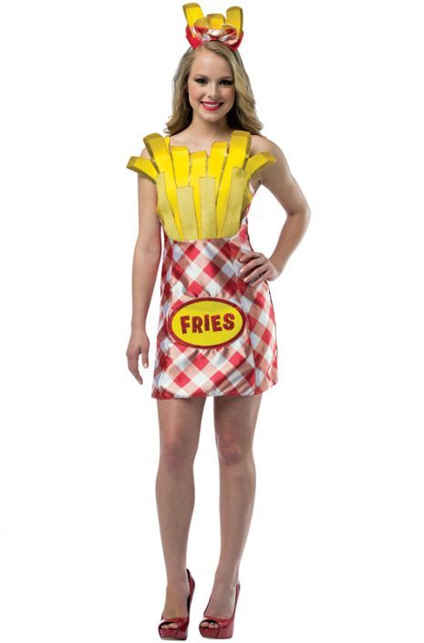 Foodies French Fries Dress Adult Costume