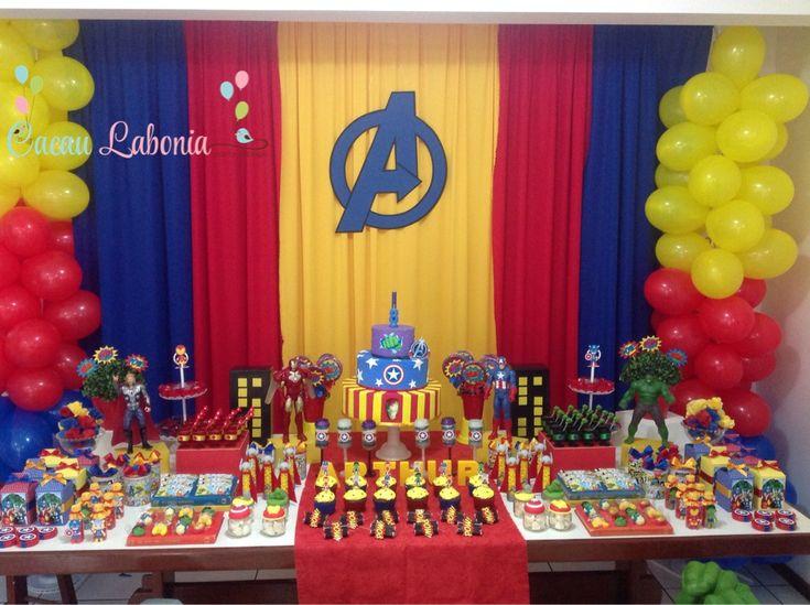 17 Best images about Festa Vingadores on Pinterest   Avenger party, Pedestal and Cakes