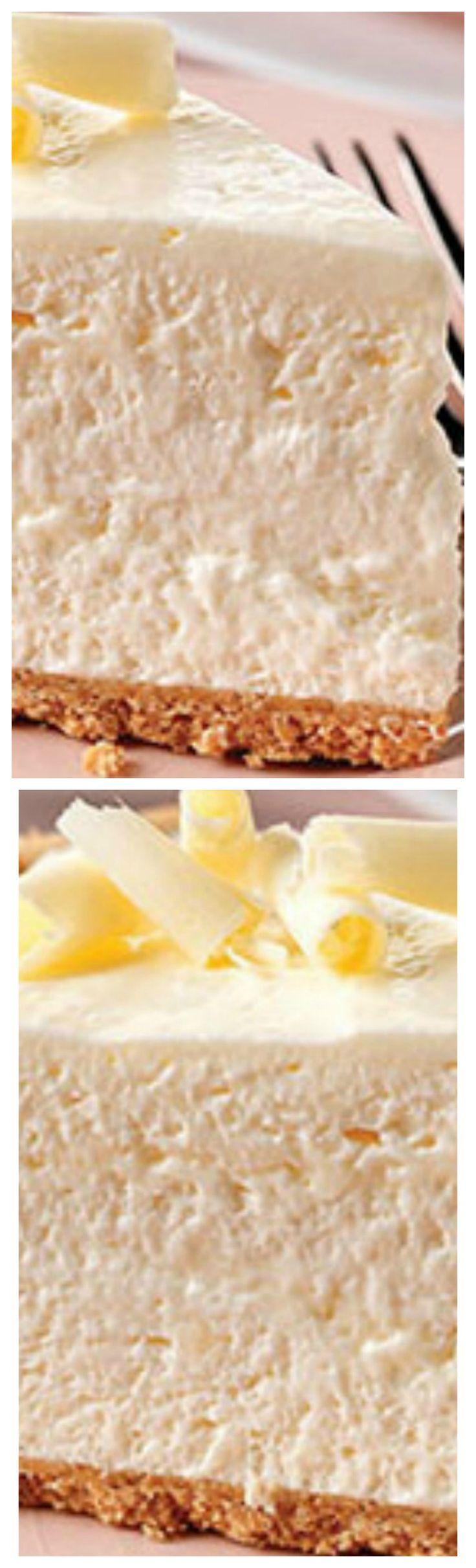 Fluffy White Chocolate Cheesecake