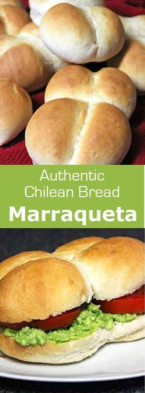 Marraqueta, also known as pan francés and pan batido is a traditional Chilean bread composed of a pair of attached soft rolls.  #chile #bread #196flavors