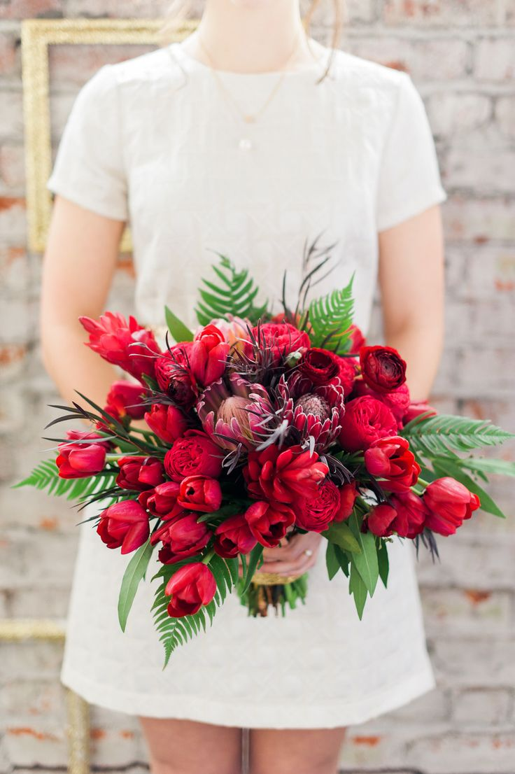 Best 25 Red Wedding Bouquets Ideas On Pinterest Red Wedding Flowers Red F
