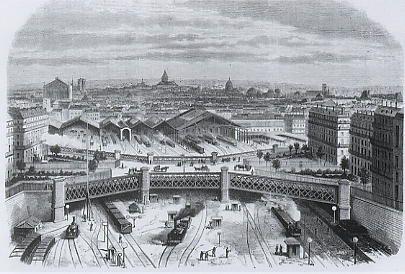La gare Saint-Lazare, 1868