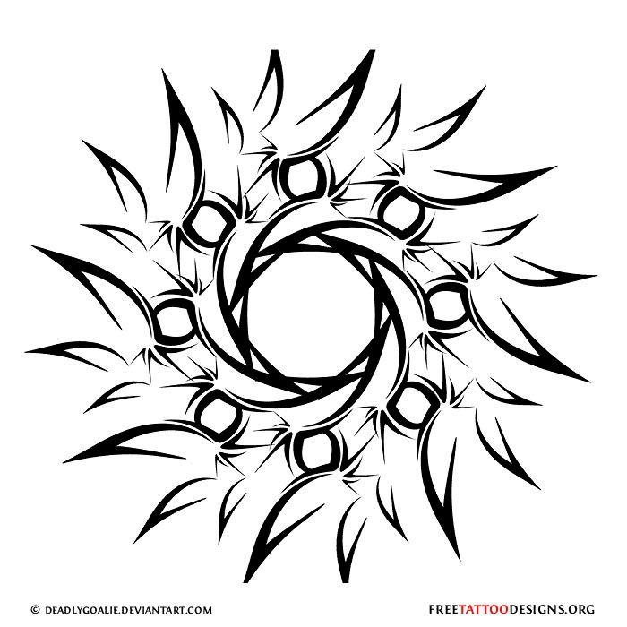 tribal tattoo that symbolizes love | 65 Sun Tattoos | Tribal Sun Tattoo Designs