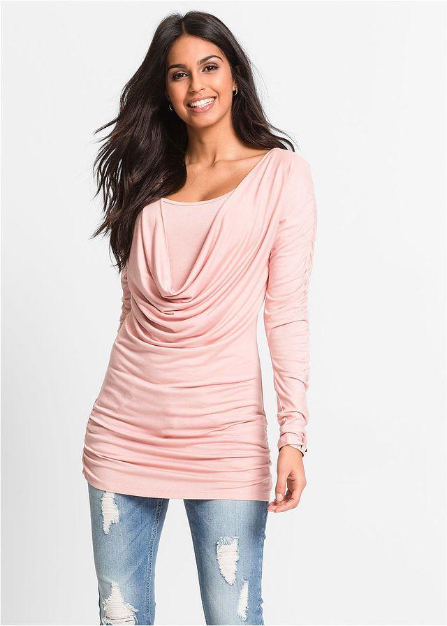 4008381ade41 Tričko s dlhým rukávom • vintage ružová • bonprix obchod