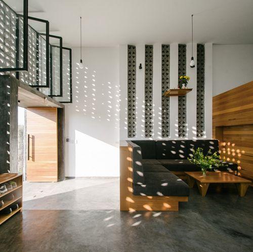 Thiết kế nhà Việt ấn tượng nhờ gạch hoa thông gió - Kiến Thức