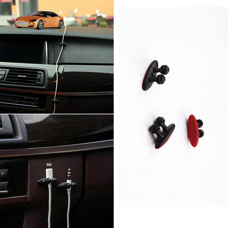 8 Pcs/Lot Mobil Kawat Kabel Tie Clip Holder Fixer Organizer Perekat Garis Gesper Penjepit USB Kabel Charger Mobil Mobil Klip aksesoris