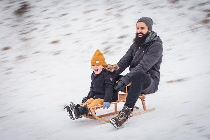 #winterfun #dadandson #hipsterdad #beardeddad