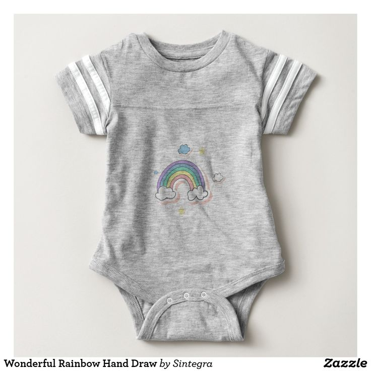 Wonderful Rainbow Hand Draw Baby Bodysuit