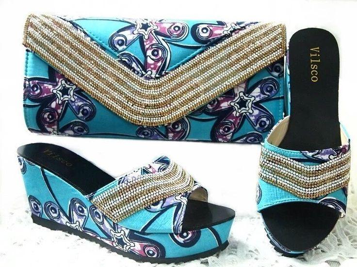 2017 neue Mode Italienische Schuhe Mit Passenden Taschen Für Partei Und Hochzeit Afrikanische Schuhe Und Taschen Mit Steinen GL1-01 //Price: $US $55.50 & FREE Shipping //     #abendkleider