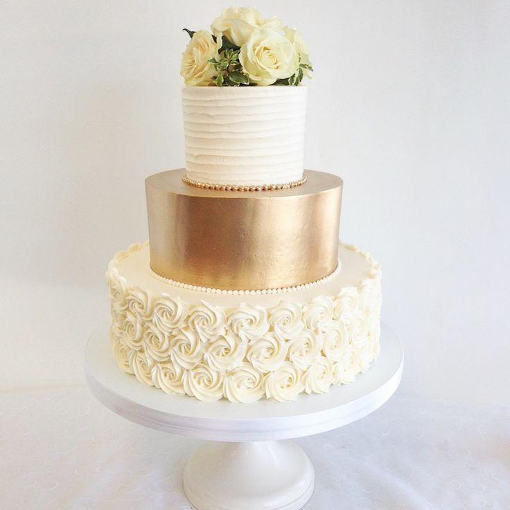 Best 25+ Gold Wedding Cakes Ideas On Pinterest