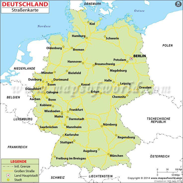 Deutschland Straßenkarte