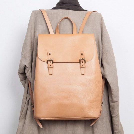 """Einzigartiges Design echt Leder Rucksack, mehrere Taschen, 13"""" Laptop"""