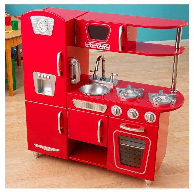 Kidkraft Red Vintage Kitchen 53173: Red Vintage Play Kitchen In 2019