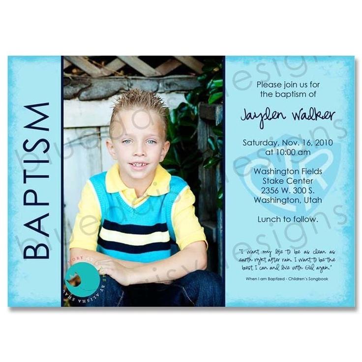 5x7 LDS Baptism Photo Invitation