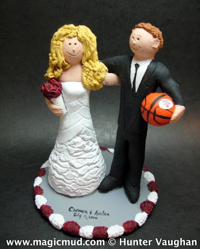 Texas A&M Aggies Wedding Cake Topper by http://magicmud.com/Wedding photos.htm magicmud@magicmud.com  1 800 231 9814  https://www.facebook.com/PersonalizedWeddingCakeToppers  https://twitter.com/caketoppers  #wedding #cake #toppers #custom#personalized #Groom #bride #anniversary #birthday#weddingcaketoppers#cake toppers#figurine#gift#wedding cake toppers#basketball#texas