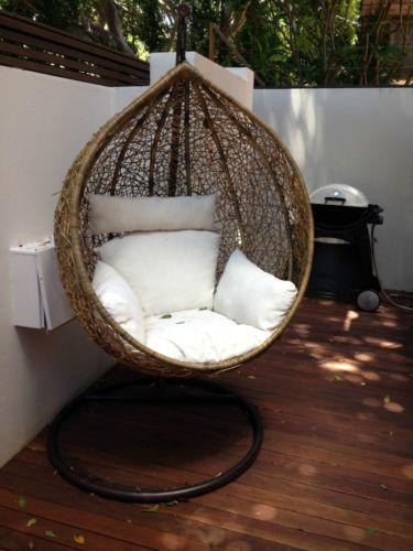 BN Wicker Hanging Swing EGG Chair Rattan IN Outdoor POD In Bondi Junction,  NSW |