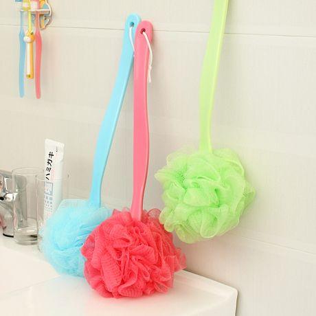 Красочный мягкий ленивый угловая ванна большой пузырь ванна мяч Рубить душ кисти длинные ручки ванны кисти кисти 60201 - Taobao