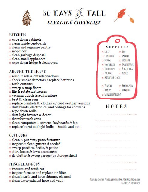 Best 25+ Fall cleaning checklist ideas on Pinterest Fall - sample spring cleaning checklist