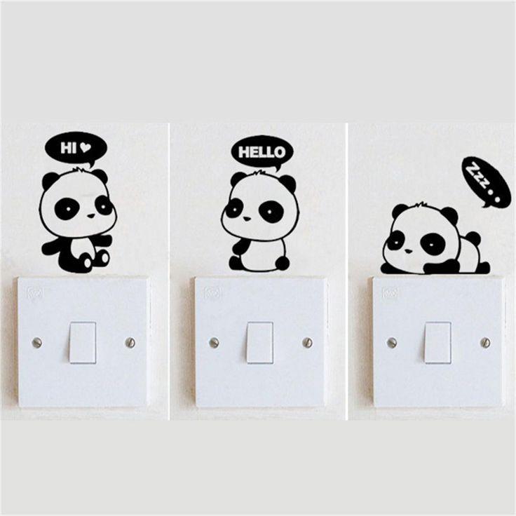 Pas cher 3 Panda Commutateur BRICOLAGE Autocollants Personnalisé Vinyle Décoratif Stickers Muraux 2SS0001, Acheter    de qualité directement des fournisseurs de Chine:3 Panda Commutateur BRICOLAGE Autocollants Personnalisé Vinyle Décoratif Stickers Muraux 2SS0001