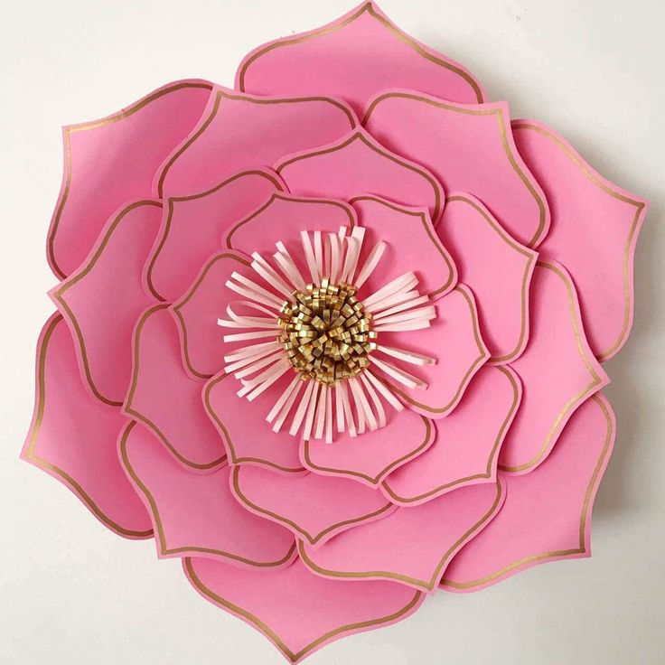 Beautiful Paper Flower Template PDF From The Crafty Sagittarius Size Range From 4 Inches To