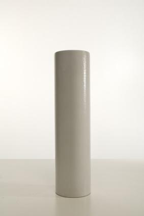 vaso cilindro bianco lucido. diametro cm.11xh.41