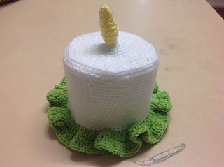 Ravelry: Candle Toilet Roll Cover pattern by Selena Wallace