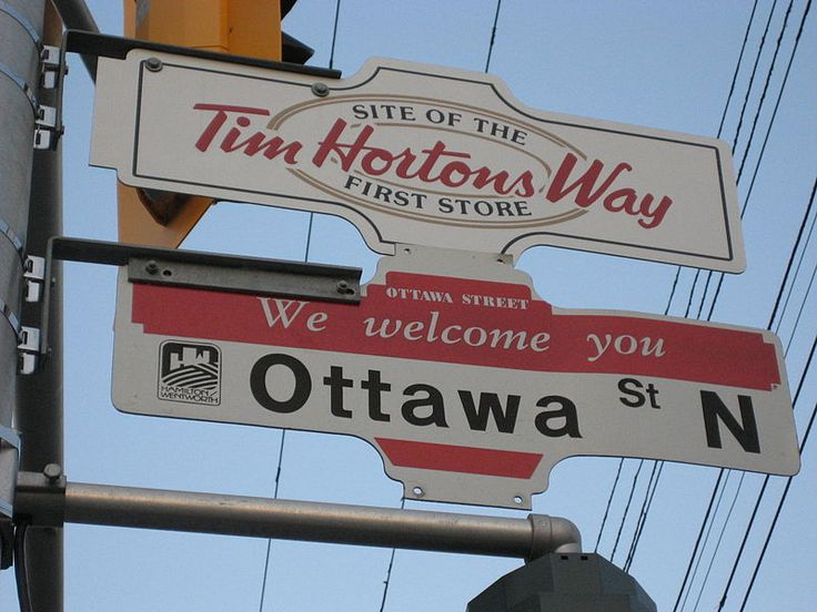 Ottawa street, Hamilton, Ontario, Canada. It is the largest Fabric and Textile District in Canada and site of the first Tim Horton's restaurant. http://en.wikipedia.org/wiki/Ottawa_Street_(Hamilton,_Ontario)