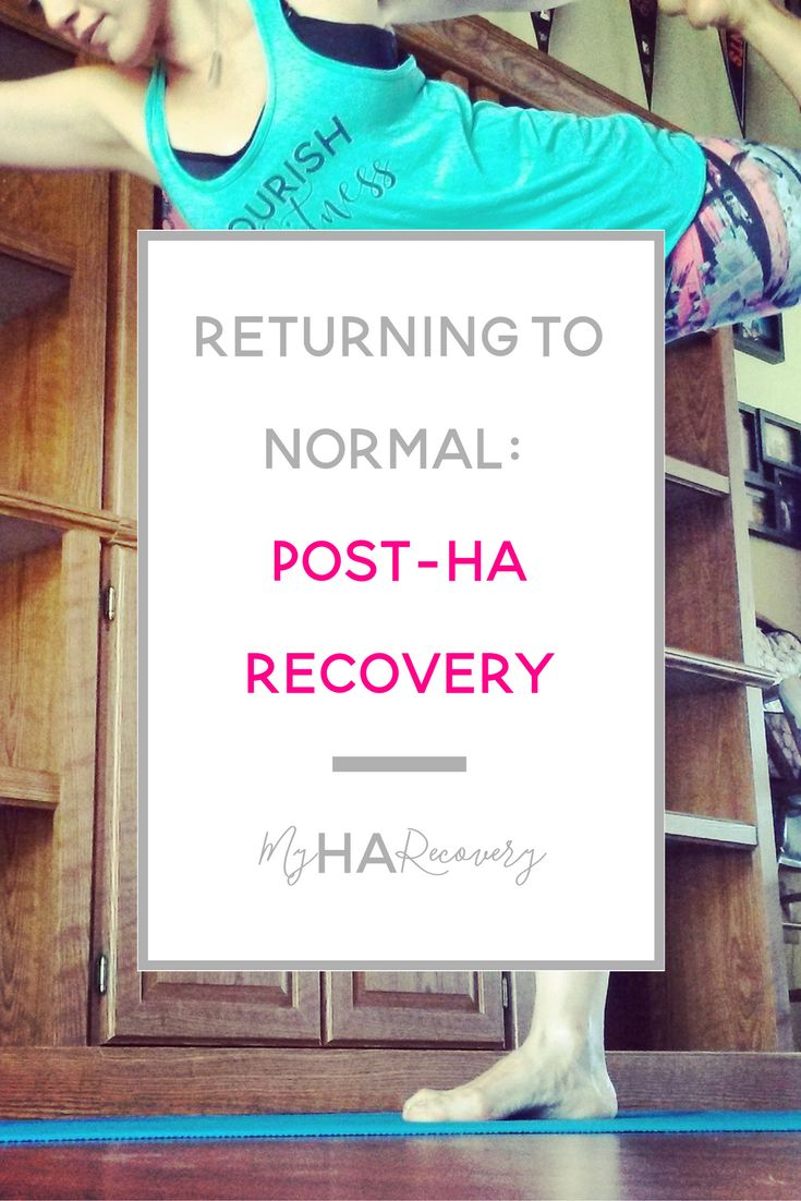 Hypothalamic Amenorrhea: Returning to normal, post HA Recovery