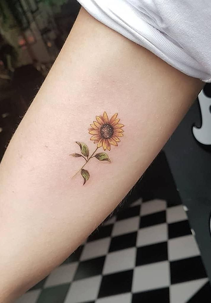 Celebrate the Beauty of Nature with these Inspirational Sunflower Tattoos – #Beauty #Celebrate #Inspirational #Nature #Sunflower