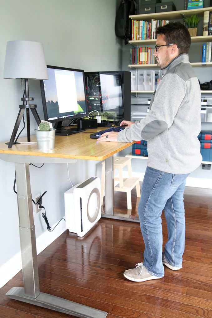 Jarvis Laminate Standing Desk Home Office Setup Standing Desk Office Sit Stand Desk