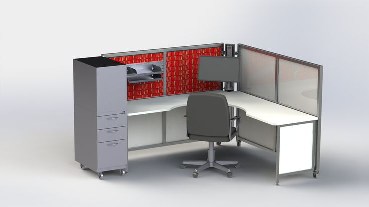 Solo+ with fabric and whiteboard inserts along with a mobile tower for storage.