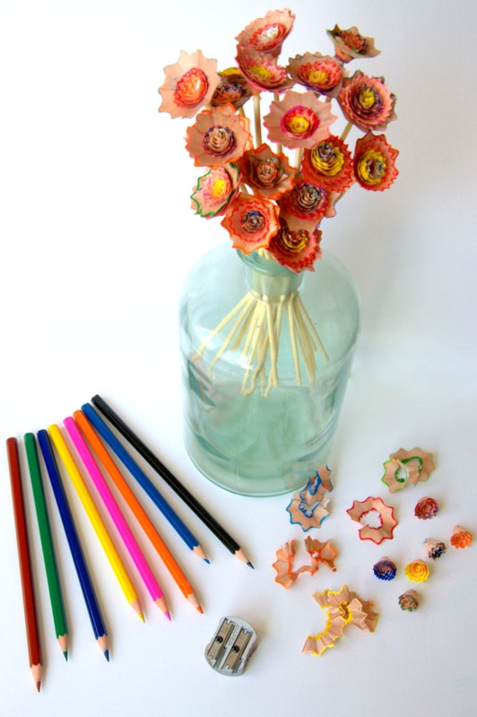 DIY project: Woden flowers... Tuttorial in pictures!