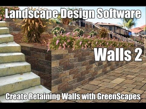 Designing Retaining Walls with landscape design software.