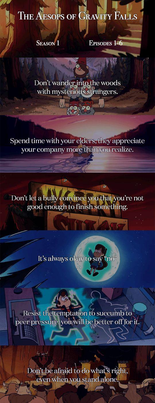 Aesops of Gravity Falls 1-6 #welovegravityfalls