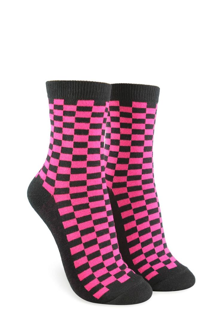 Product Name:Checkered Print Crew Socks, Category:ACC, Price:2.9