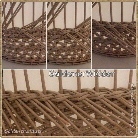 Поделка изделие Плетение Японское-послойное с послойным в две трубочки Бумага…