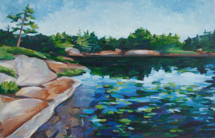 Bying Inlet #2 Oil on Canvas 48 X 60