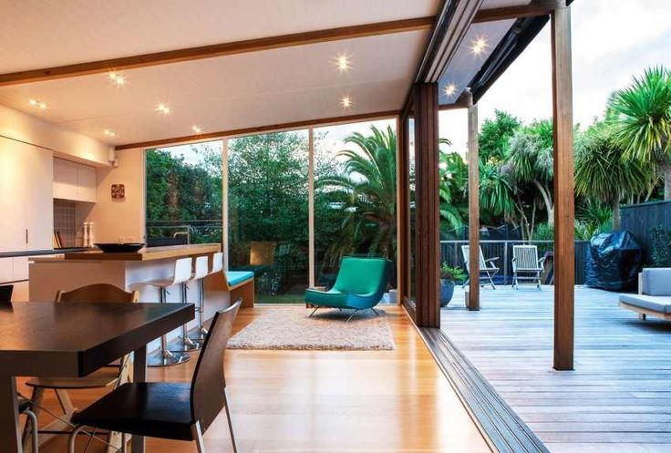 Glass Box Extension Upgrading Bungalow-Style Home in New Zealand