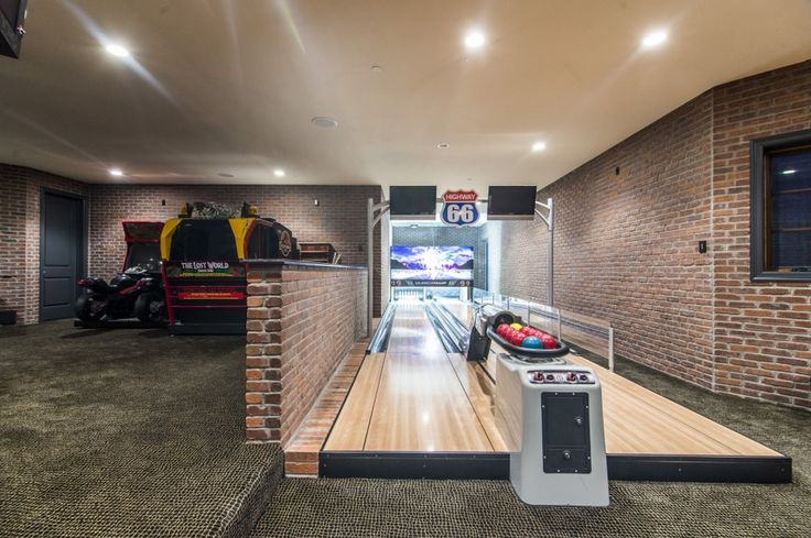Man Caves Englewood : Home bowling alley pic of game rooms bars etc