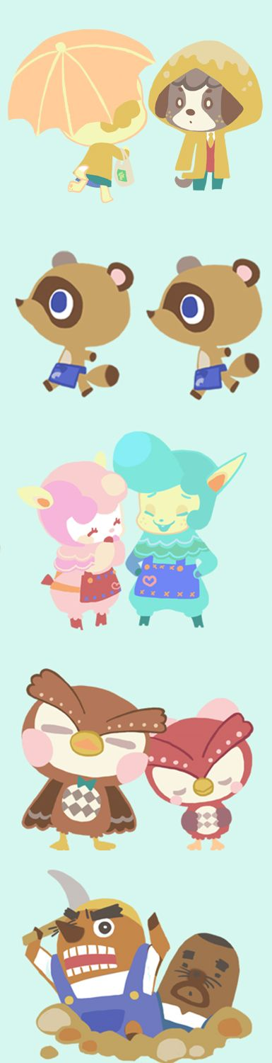 Adorable Animal Crossing characters -- love the aesthetic