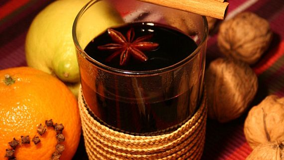 """Classic German """"Glühwein"""" Recipe:  Ingredients: 1 liter dry red wine, 1 lemon, 2 cinnamon sticks, 3 cloves, 3 tbsp sugar  Heat the red wine and cut the lemon into slices. Add lemon slices and all the other ingredients into the hot red wine and heat for another 5 minutes. Take off stove and let it rest for an hour. Before serving, heat the Glühwein up again and pour it through a strainer. Enjoy!"""