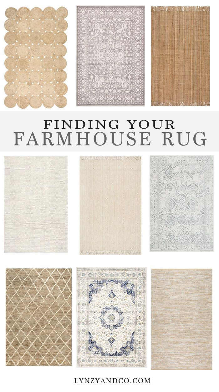 Finding the Perfect Farmhouse Rug | Pinterest | Living rooms, Room ...