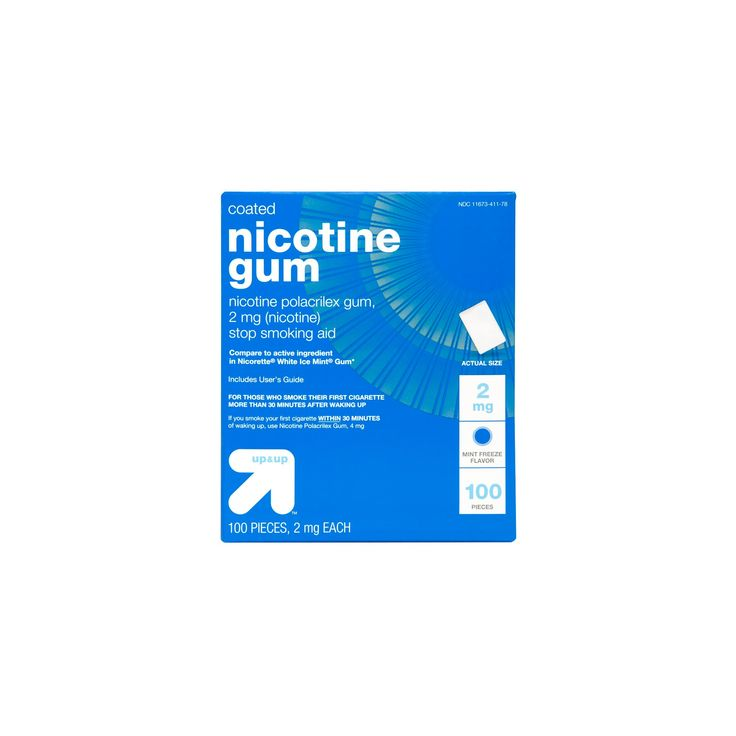 Nicotine Gum & Lozenges Stop Smoking Aid - Mint - (Compare to Nicorette Gum & Lozenges) - up & up, White