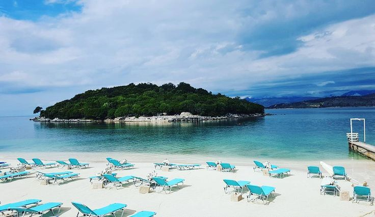 The beach and the islands of Ksamil, also called the Bora Bora of Albania  Isn't it nice?