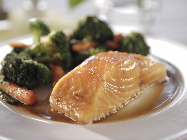 Maple-Glazed Salmon recipe from Trisha Yearwood via Food Network