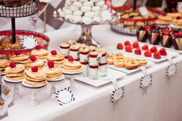 yummy yummy dessert bar   #dessertbar  #wedding Mini cheesecakes, tartes, chocolate covered strawberries