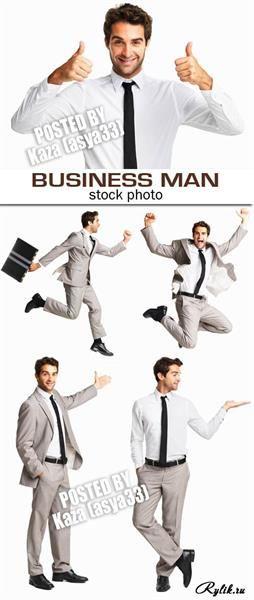Плакат деловой мужской костюм