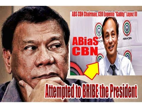 ABS-CBN Chairman, CEO Gabby Lopez, GUSTONG SUHULAN SI PRES. DUTERTE, INI-INSULTO PA ANG PANGULO - WATCH VIDEO HERE -> http://dutertenewstoday.com/abs-cbn-chairman-ceo-gabby-lopez-gustong-suhulan-si-pres-duterte-ini-insulto-pa-ang-pangulo/   Like Our FB Page Here www.facebook.com/DuterteSaPagbabagoPinoyTelebabadTV PLS LIKE, SHARE & SUBSCRIBE TO OUR YOUTUBE CHANNEL Leader of Success President Rodrigo Duterte Pres. Duterte President Rodrigo Duterte President Duterte Preside