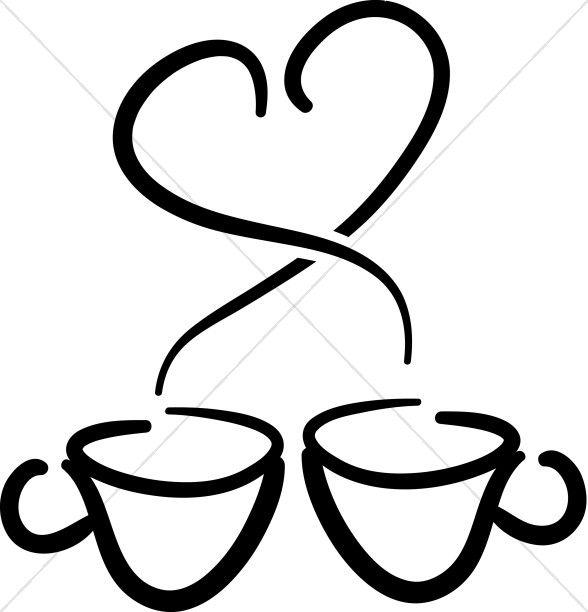 Royalty Free Rf Stock Logo Clip Art Illustration Of Hot Coffee