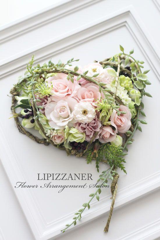 卒園の記念品に♪ハートのフレームアレンジ♡ | LIPIZZANER Flower Arrangement Salon